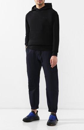 Мужские кожаные кроссовки BOTTEGA VENETA черного цвета, арт. 578305/VIFH0 | Фото 2