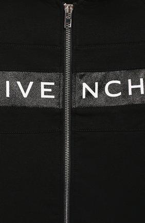 Хлопковый кардиган с капюшоном Givenchy черного цвета | Фото №3