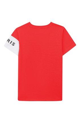 Детская хлопковая футболка GIVENCHY красного цвета, арт. H25138 | Фото 2