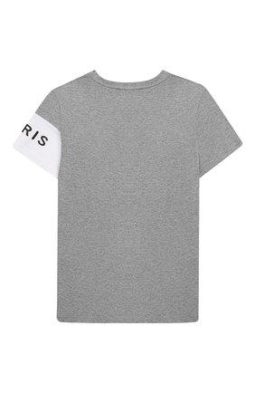 Детская хлопковая футболка GIVENCHY серого цвета, арт. H25138 | Фото 2