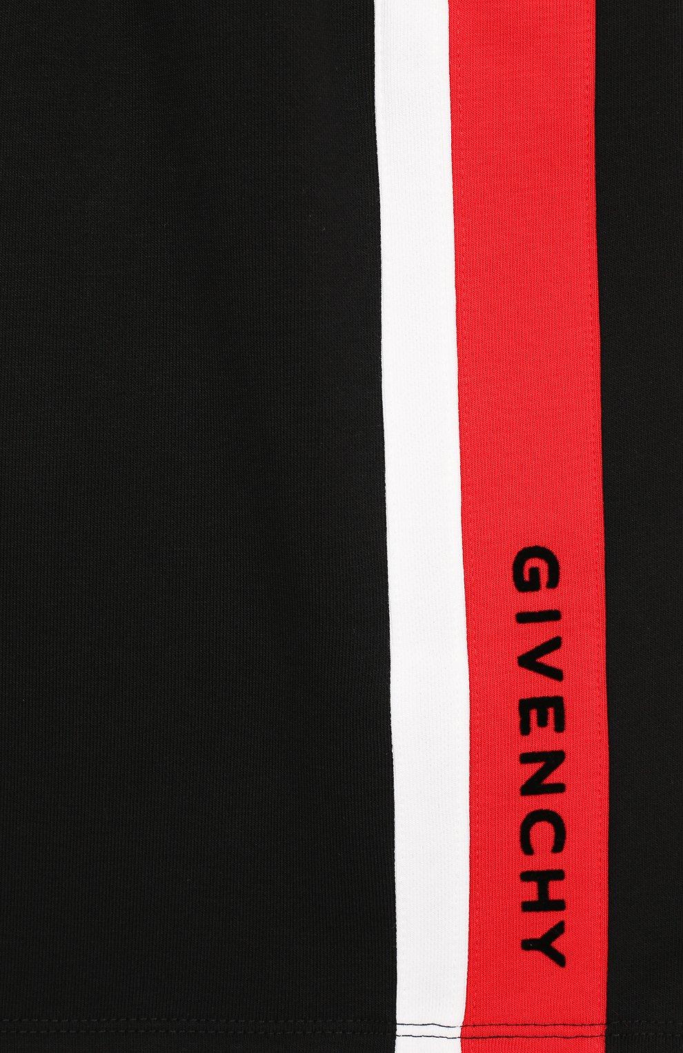 Детская хлопковая юбка Givenchy черного цвета | Фото №3