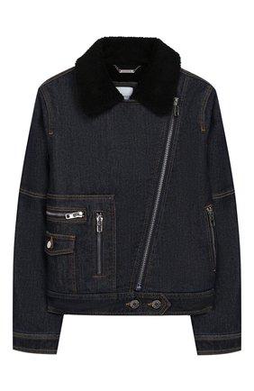 Детская джинсовая куртка GIVENCHY темно-синего цвета, арт. H16049 | Фото 1