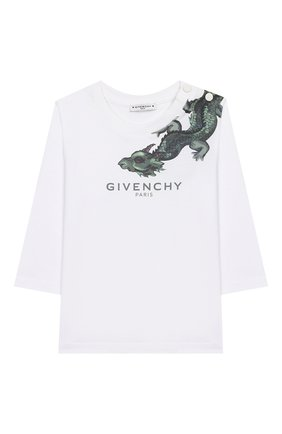 Хлопковый лонгслив Givenchy белого цвета | Фото №1