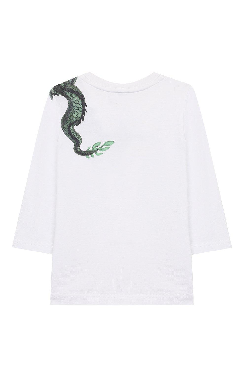 Хлопковый лонгслив Givenchy белого цвета | Фото №2