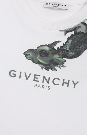 Хлопковый лонгслив Givenchy белого цвета | Фото №3