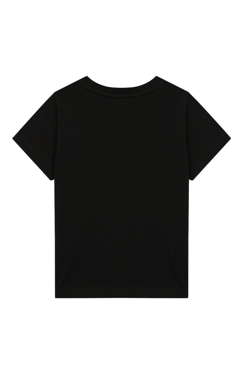 Детский хлопковая футболка GIVENCHY черного цвета, арт. H05091 | Фото 2