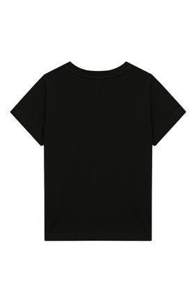 Хлопковая футболка Givenchy черного цвета | Фото №2