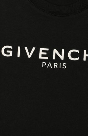 Детский хлопковая футболка GIVENCHY черного цвета, арт. H05091 | Фото 3