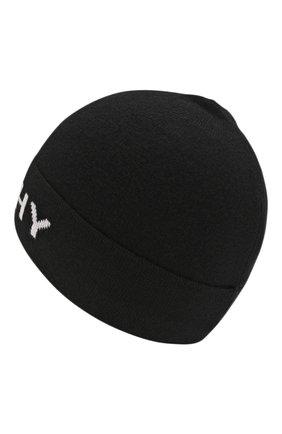 Детского хлопковая шапка GIVENCHY черного цвета, арт. H21025 | Фото 2