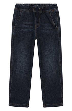 Детские джинсы с поясом на кулиске IL GUFO темно-синего цвета, арт. A19PL250J0021/5А-8А | Фото 1