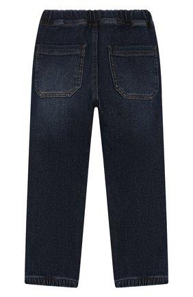 Детские джинсы с поясом на кулиске IL GUFO темно-синего цвета, арт. A19PL250J0021/5А-8А | Фото 2