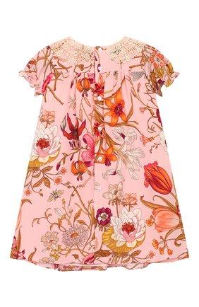 Женский шелковое платье GUCCI розового цвета, арт. 578824/ZACBU | Фото 2