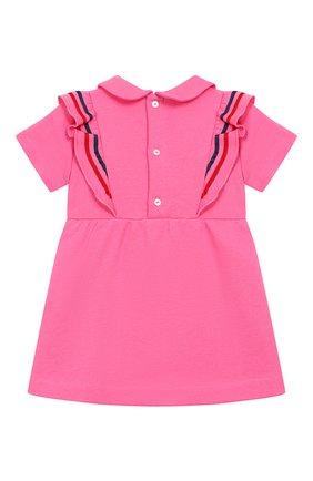 Женский хлопковое платье GUCCI фуксия цвета, арт. 571864/XJBE7 | Фото 2