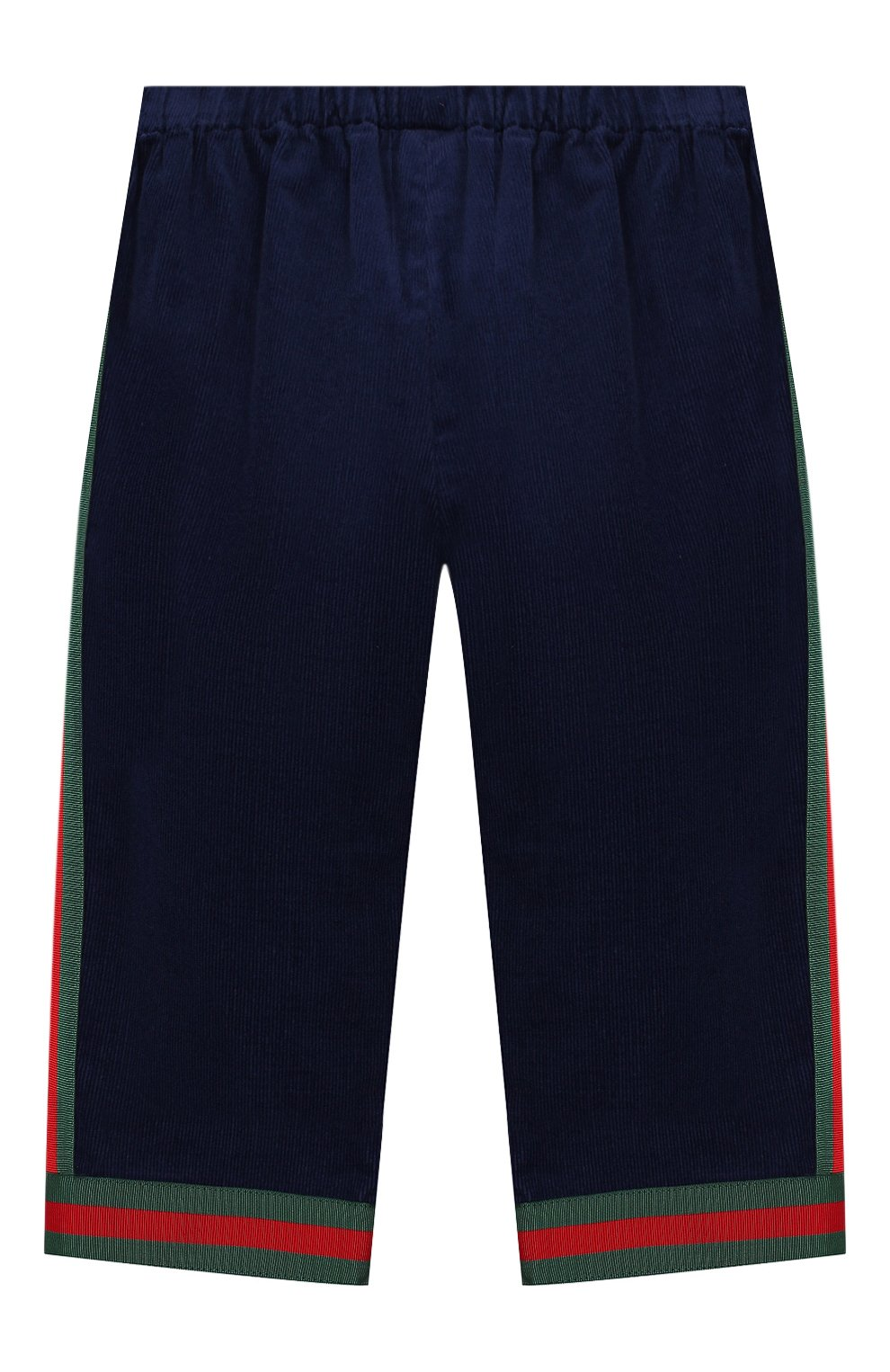 Детские хлопковые брюки GUCCI синего цвета, арт. 542994/ZABWX   Фото 2