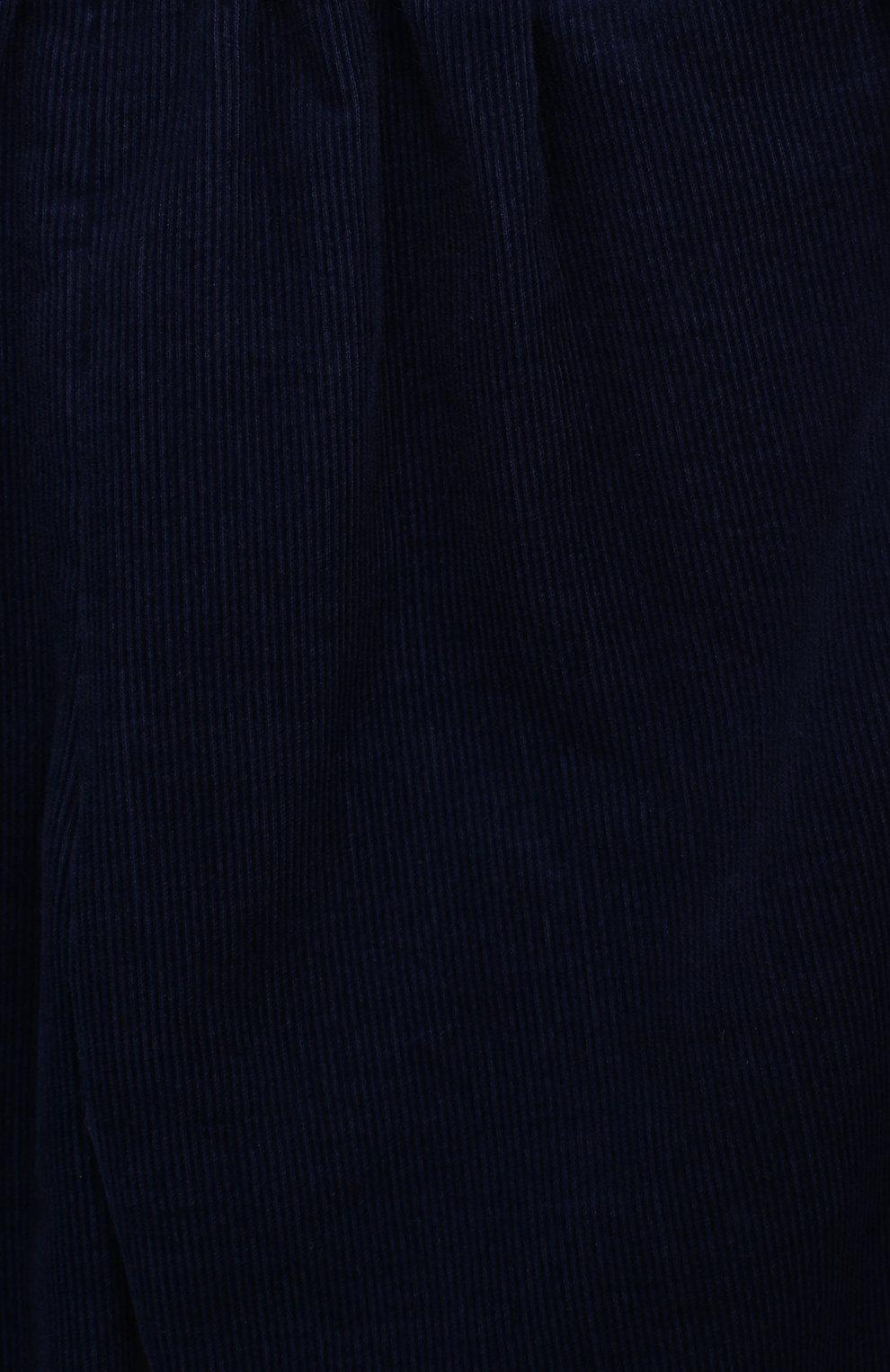 Детские хлопковые брюки GUCCI синего цвета, арт. 542994/ZABWX   Фото 3