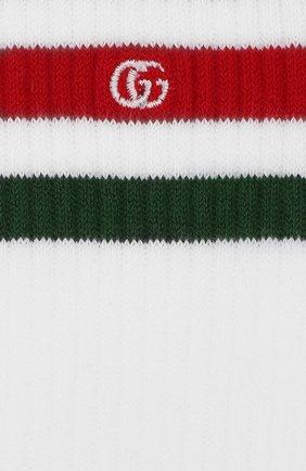 Детские хлопковые носки GUCCI белого цвета, арт. 459532/4K667 | Фото 2