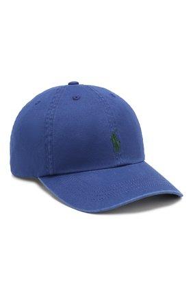 Детская хлопковая бейсболка POLO RALPH LAUREN синего цвета, арт. 323702853 | Фото 1