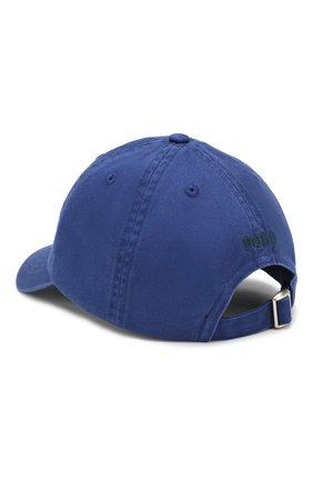 Детская хлопковая бейсболка POLO RALPH LAUREN синего цвета, арт. 323702853 | Фото 2