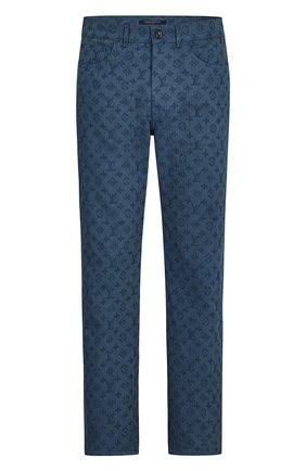 Мужские джинсы monogram LOUIS VUITTON темно-синего цвета, арт. 1A5D9H | Фото 1