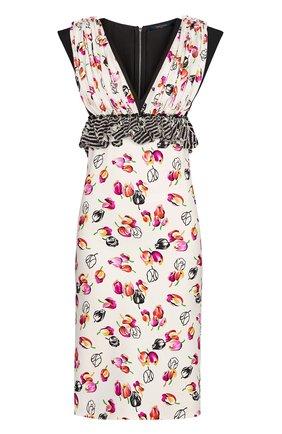 Платье из смеси шелка и шерсти   Фото №1