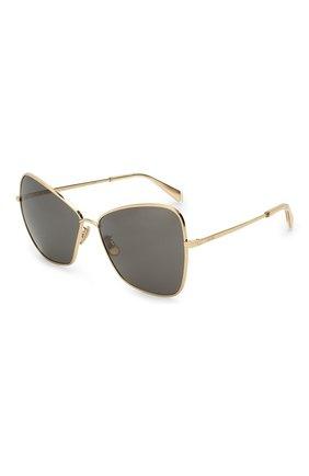 Женские солнцезащитные очки CELINE EYEWEAR золотого цвета, арт. CL40080U 30A | Фото 1