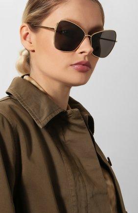 Женские солнцезащитные очки CELINE EYEWEAR золотого цвета, арт. CL40080U 30A | Фото 2