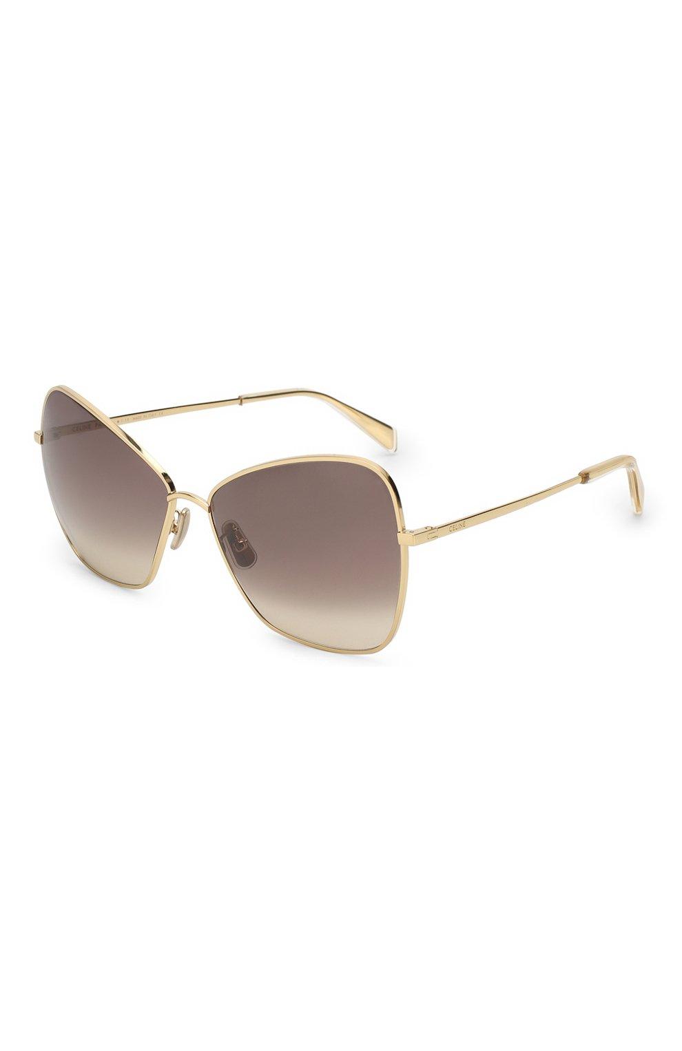 Женские солнцезащитные очки CELINE EYEWEAR золотого цвета, арт. CL40080U 30F | Фото 1