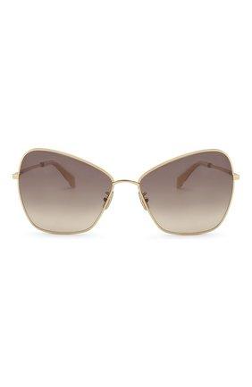 Женские солнцезащитные очки CELINE EYEWEAR золотого цвета, арт. CL40080U 30F | Фото 3