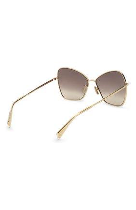Женские солнцезащитные очки CELINE EYEWEAR золотого цвета, арт. CL40080U 30F | Фото 4