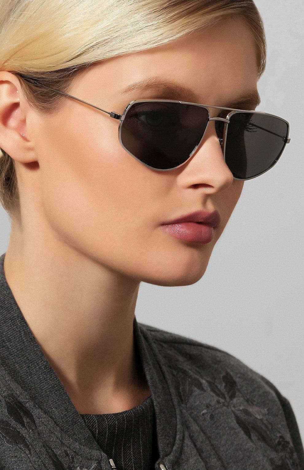 Женские солнцезащитные очки CELINE EYEWEAR серебряного цвета, арт. CL40083U 16A | Фото 2