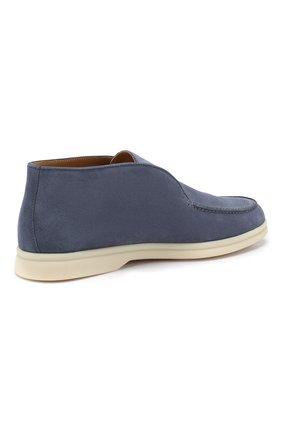 Женские замшевые ботинки open walk LORO PIANA синего цвета, арт. FAE9959 | Фото 4
