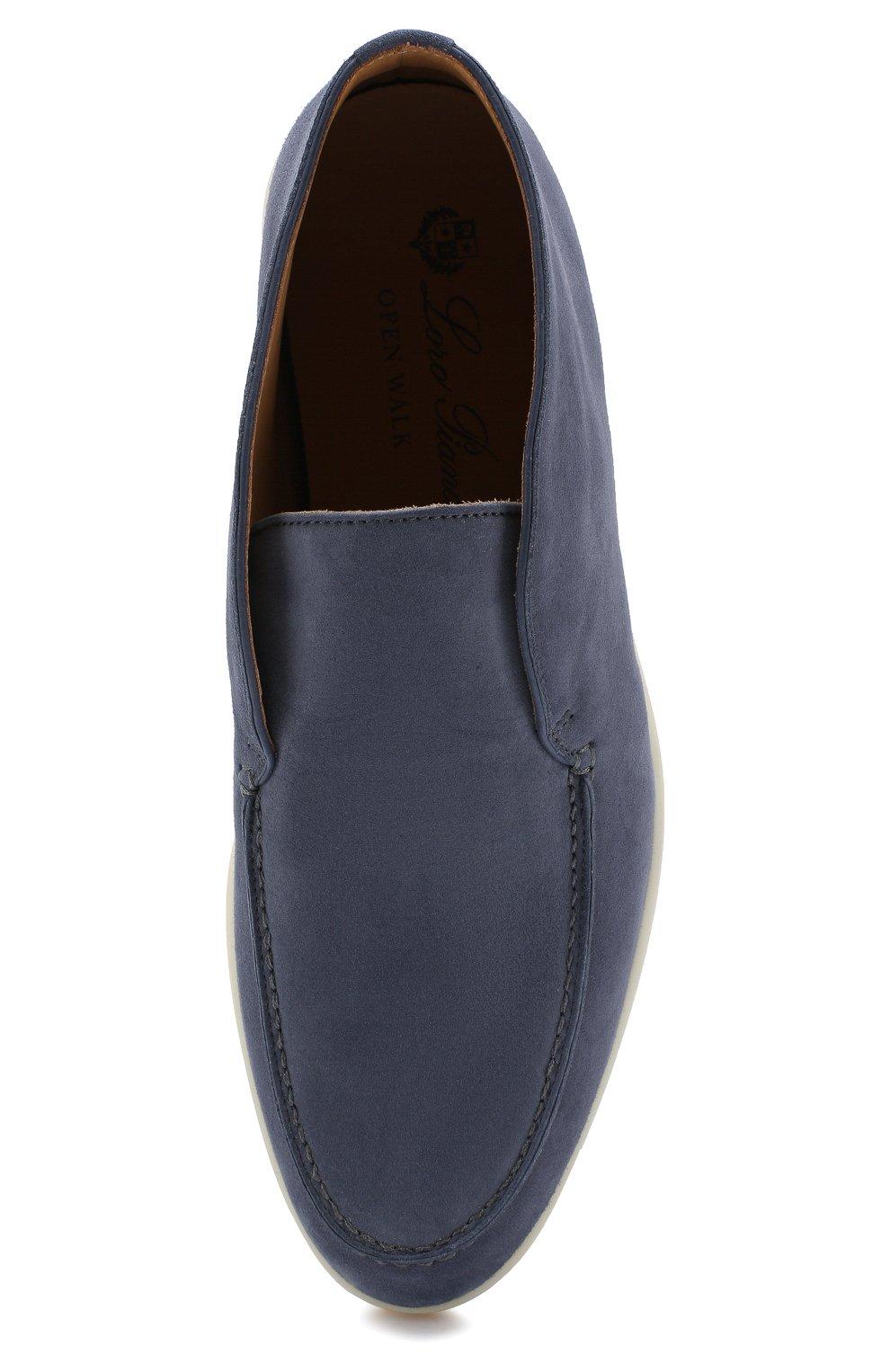 Женские замшевые ботинки open walk LORO PIANA синего цвета, арт. FAE9959 | Фото 5
