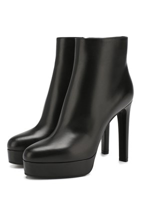 Женские кожаные ботильоны CASADEI черного цвета, арт. 1Q672L1201DUSEE9000 | Фото 1