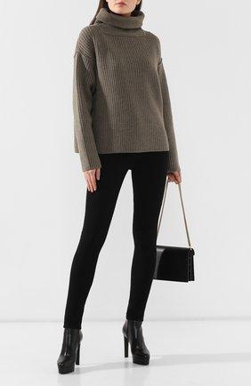 Женские кожаные ботильоны CASADEI черного цвета, арт. 1Q672L1201DUSEE9000 | Фото 2