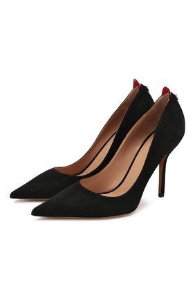 Замшевые туфли Valentino Garavani Rouge Bond | Фото №1