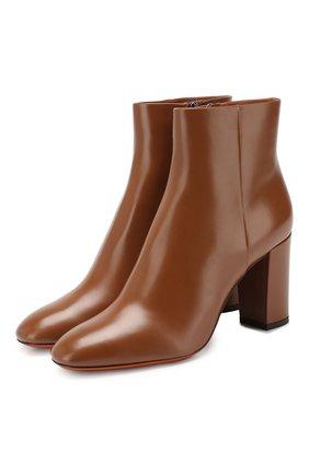 Женские кожаные ботильоны SANTONI коричневого цвета, арт. WTT058158HI2CBGNC32 | Фото 1