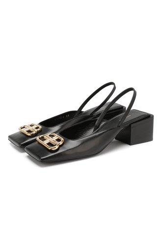 Кожаные туфли Double Square BB