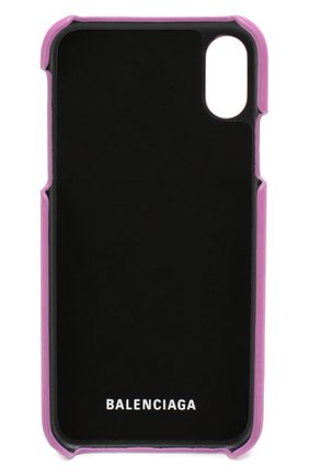 Мужской кожаный чехол для iphone x/xs BALENCIAGA фуксия цвета, арт. 585828/0K1X0 | Фото 2
