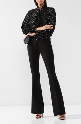 Женские расклешенные брюки PHILIPP PLEIN черного цвета, арт. WRT0691 | Фото 2