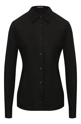 Женская хлопковая рубашка TOM FORD черного цвета, арт. CA3125-FAX565 | Фото 1