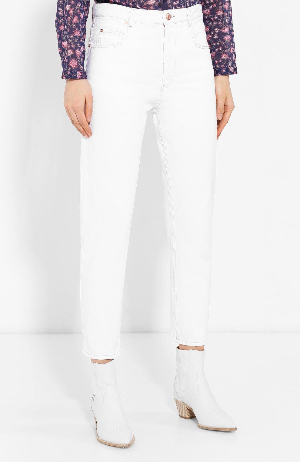 Женские джинсы ISABEL MARANT ETOILE белого цвета, арт. PA1361-19A022E/NEAJ   Фото 3