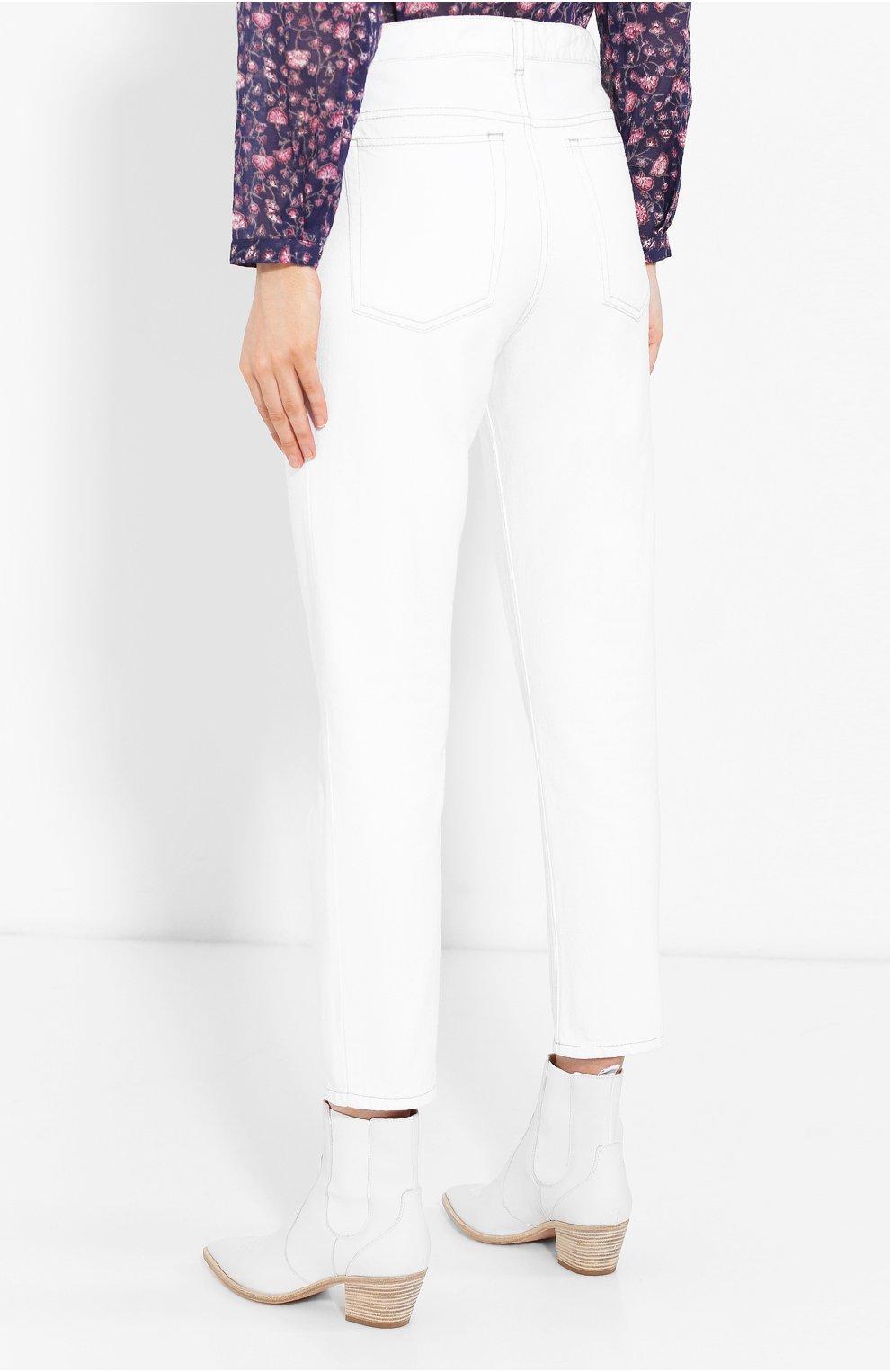 Женские джинсы ISABEL MARANT ETOILE белого цвета, арт. PA1361-19A022E/NEAJ   Фото 4