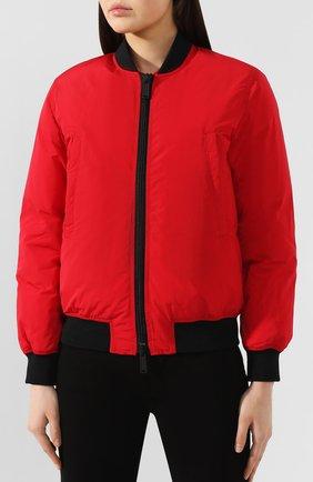 Женский пуховый бомбер DSQUARED2 красного цвета, арт. S75AM0686/S52109 | Фото 3