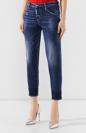 Женские джинсы DSQUARED2 синего цвета, арт. S72LB0214/S30663 | Фото 3