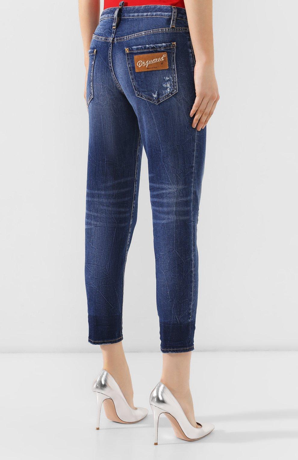 Женские джинсы DSQUARED2 синего цвета, арт. S72LB0214/S30663 | Фото 4