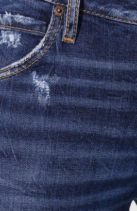 Женские джинсы DSQUARED2 синего цвета, арт. S72LB0214/S30663 | Фото 5