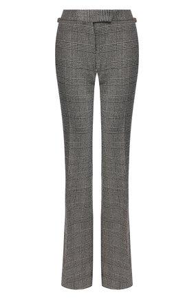 Женские брюки из смеси шерсти и шелка TOM FORD черно-белого цвета, арт. PAW264-FAX552   Фото 1