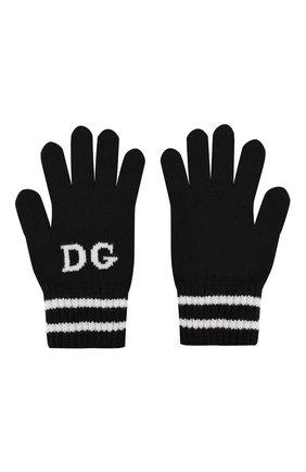 Детские шерстяные перчатки DOLCE & GABBANA черно-белого цвета, арт. LBKA19/JAVPF | Фото 2