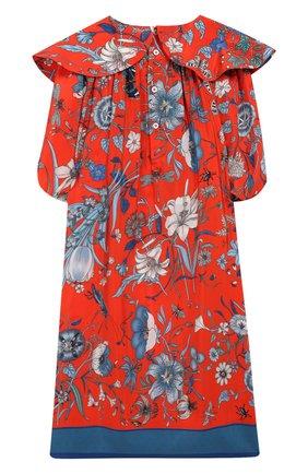 Детское шелковое платье GUCCI оранжевого цвета, арт. 570951/ZACBS | Фото 2