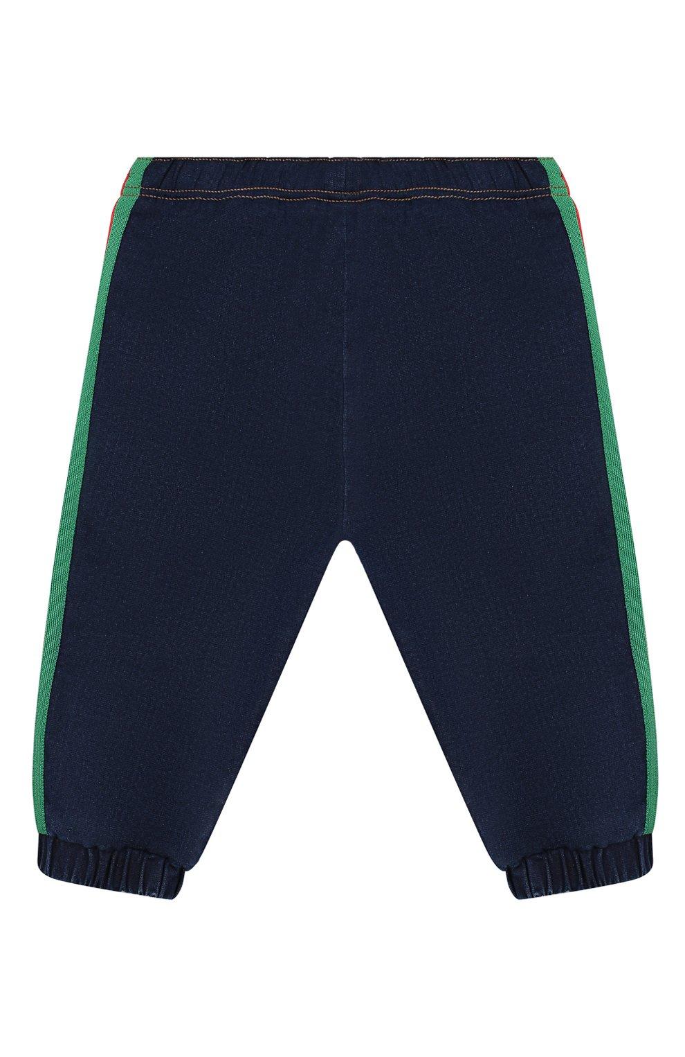 Детские джинсовые джоггеры GUCCI синего цвета, арт. 547187/XJA65 | Фото 2